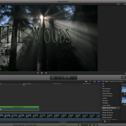 3D Title Animation Tips in Final Cut Pro X