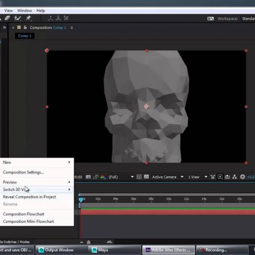 Working with Photoshop 3D Objects in After Effects